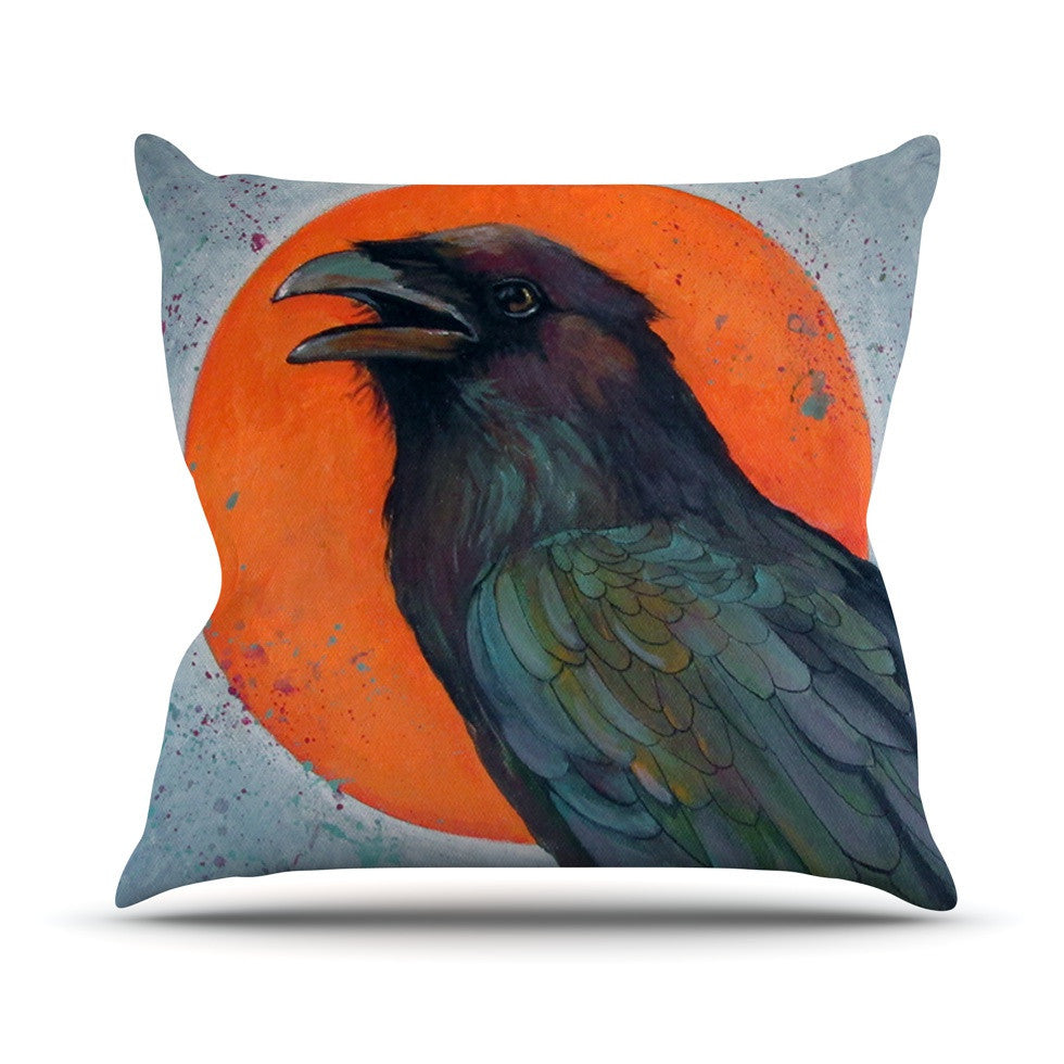 "Lydia Martin ""Raven Sun"" Outdoor Throw Pillow - KESS InHouse  - 1"