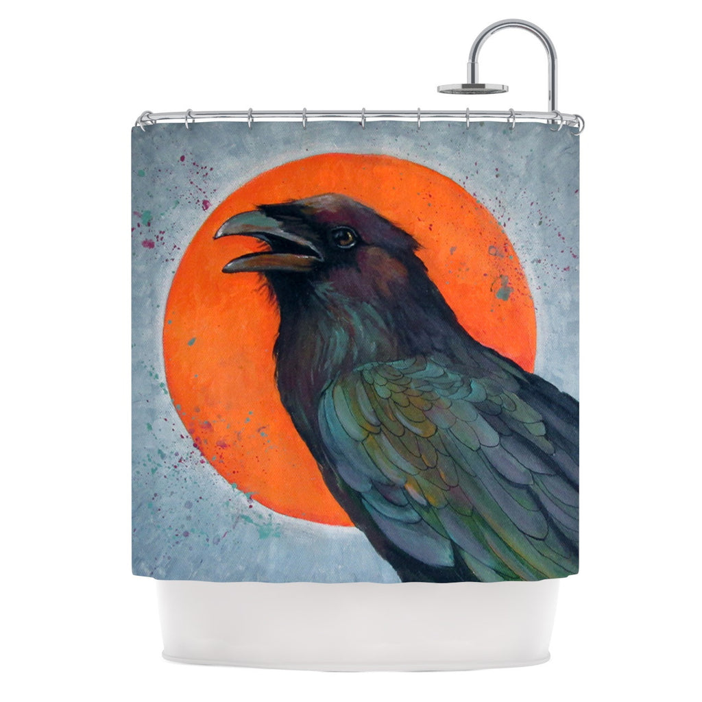 "Lydia Martin ""Raven Sun"" Shower Curtain - KESS InHouse"