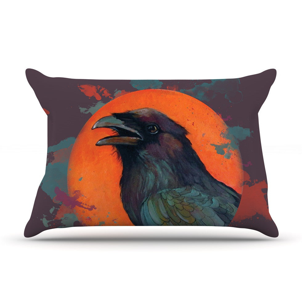 "Lydia Martin ""Raven Sun Alternate"" Orange Purple Pillow Sham - KESS InHouse"