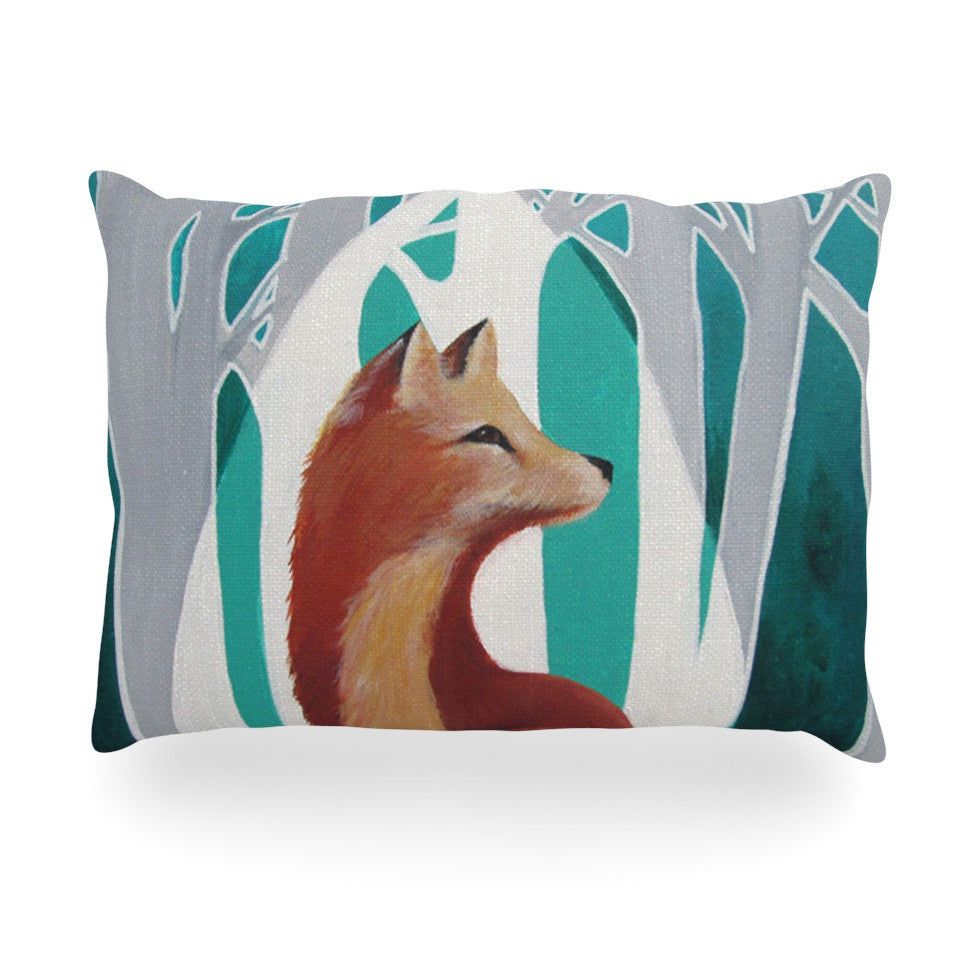 "Lydia Martin ""Fox Forest"" Oblong Pillow - KESS InHouse"