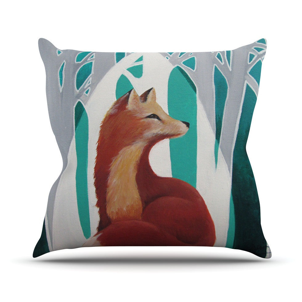 "Lydia Martin ""Fox Forest"" Outdoor Throw Pillow - KESS InHouse  - 1"