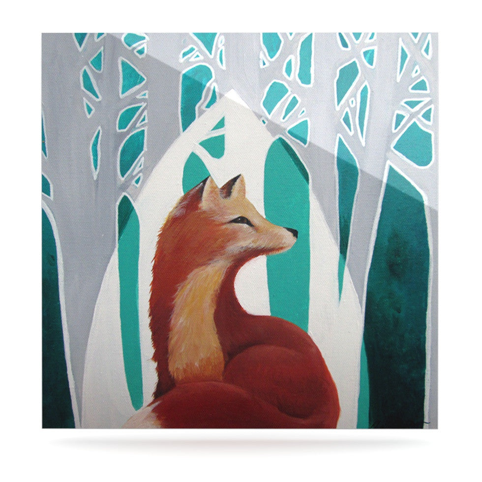 "Lydia Martin ""Fox Forest"" Luxe Square Panel - KESS InHouse  - 1"