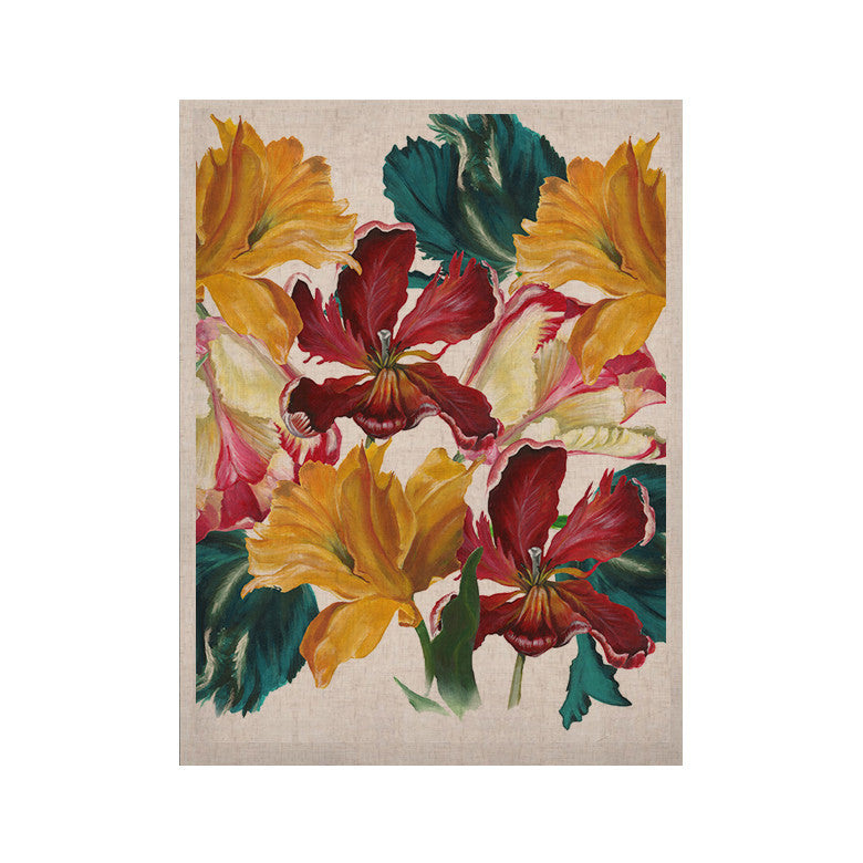 "Lydia Martin ""Flower Power"" Floral Rainbow KESS Naturals Canvas (Frame not Included) - KESS InHouse  - 1"