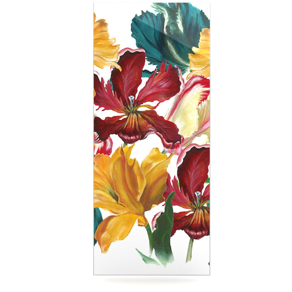 "Lydia Martin ""Flower Power"" Floral Rainbow Luxe Rectangle Panel - KESS InHouse  - 1"