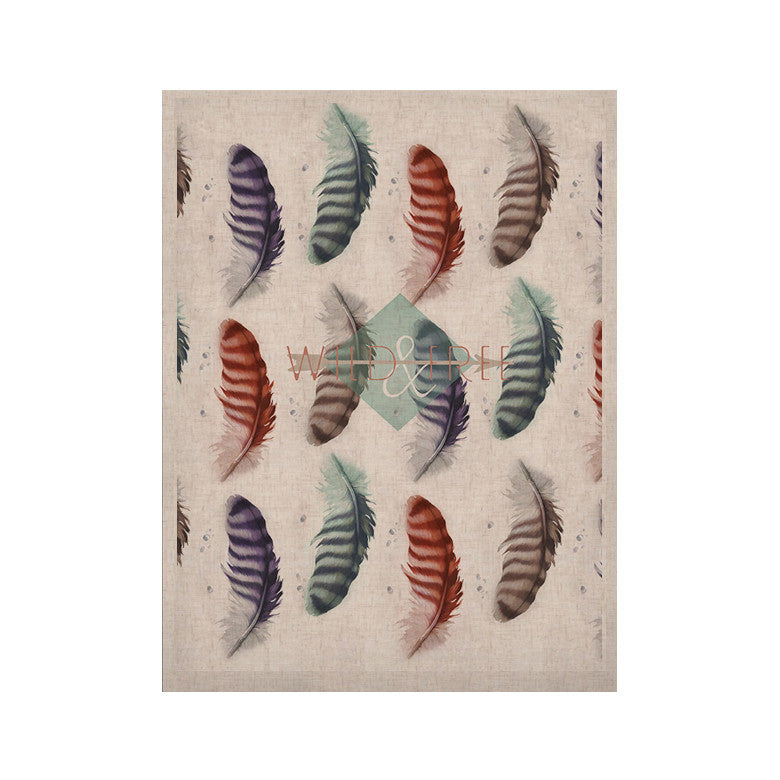 "Lydia Martin ""Wildfree"" Feather White KESS Naturals Canvas (Frame not Included) - KESS InHouse  - 1"