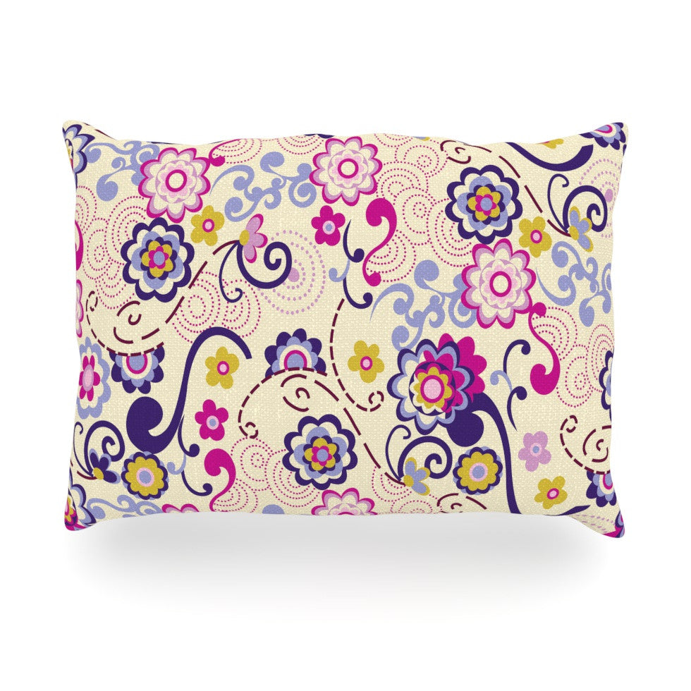 "Louise Machado ""Arabesque"" Oblong Pillow - KESS InHouse"