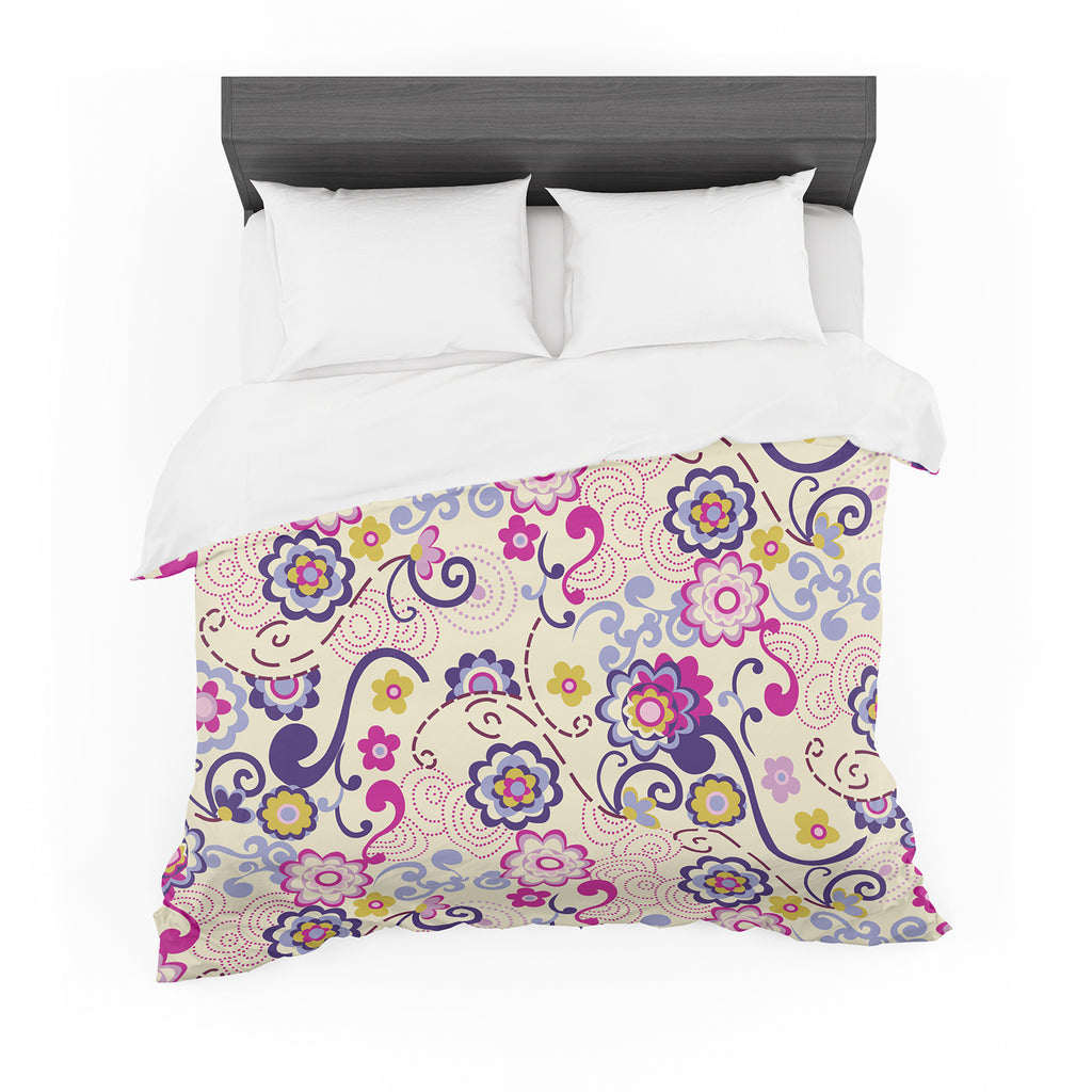 "Louise Machado ""Arabesque"" Cotton Duvet"