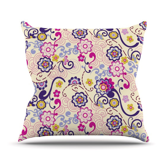 "Louise Machado ""Arabesque"" Throw Pillow - KESS InHouse  - 1"