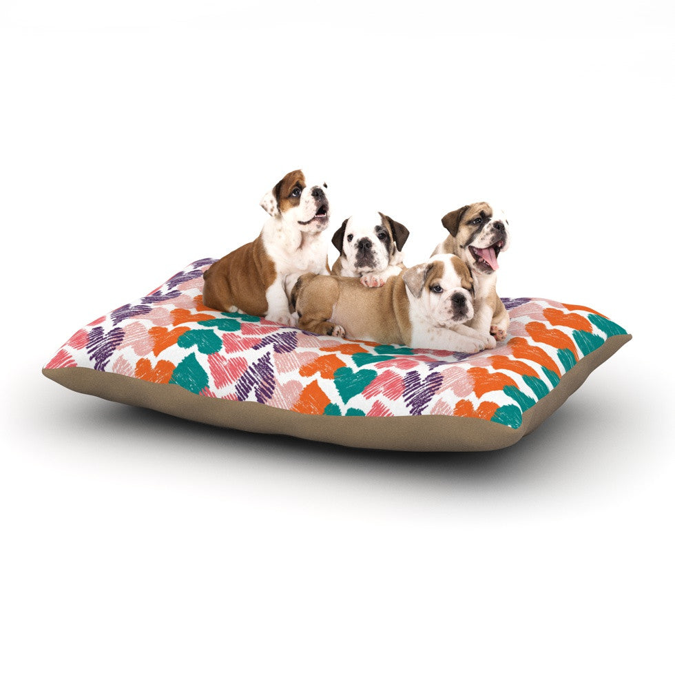 "Louise Machado ""Hearts"" Dog Bed - KESS InHouse  - 1"
