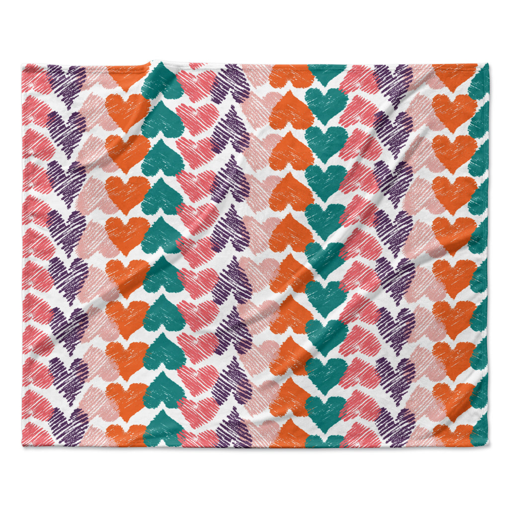 "Louise Machado ""Hearts"" Fleece Throw Blanket"