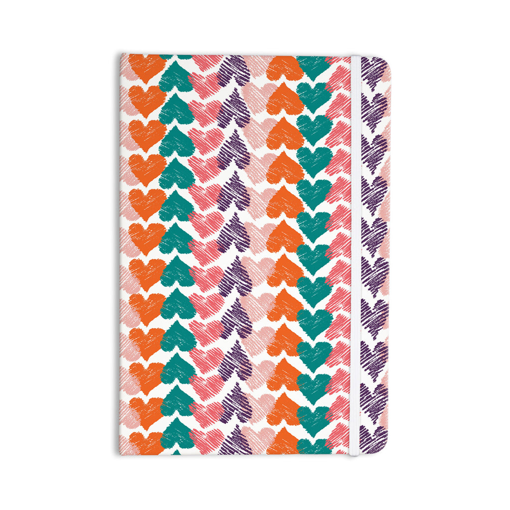 "Louise Machado ""Hearts"" Everything Notebook - KESS InHouse  - 1"