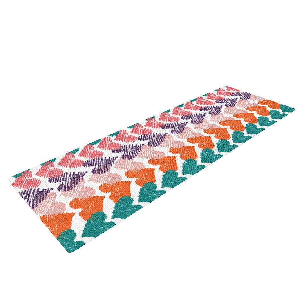 "Louise Machado ""Hearts"" Yoga Mat - KESS InHouse  - 1"