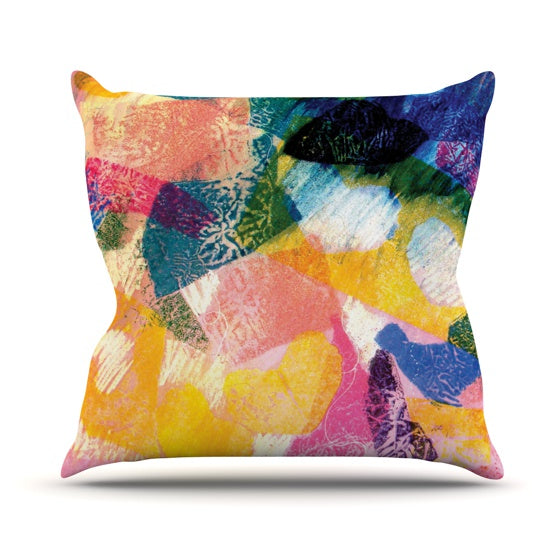 "Louise Machado ""Texture"" Throw Pillow - KESS InHouse  - 1"