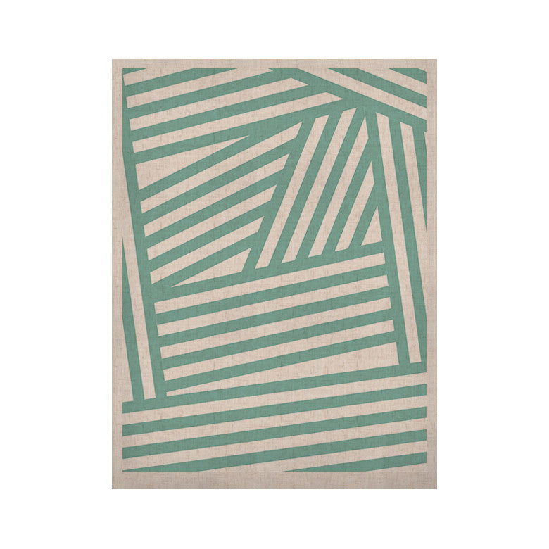 "Louise Machado ""Aqua Stripes"" KESS Naturals Canvas (Frame not Included) - KESS InHouse  - 1"