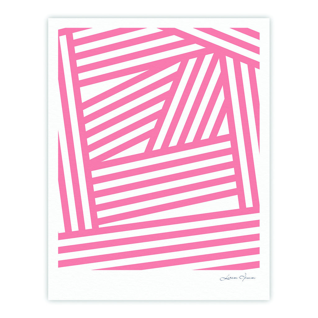"Louise Machado ""Rose Stripes"" Pink White Fine Art Gallery Print - KESS InHouse"