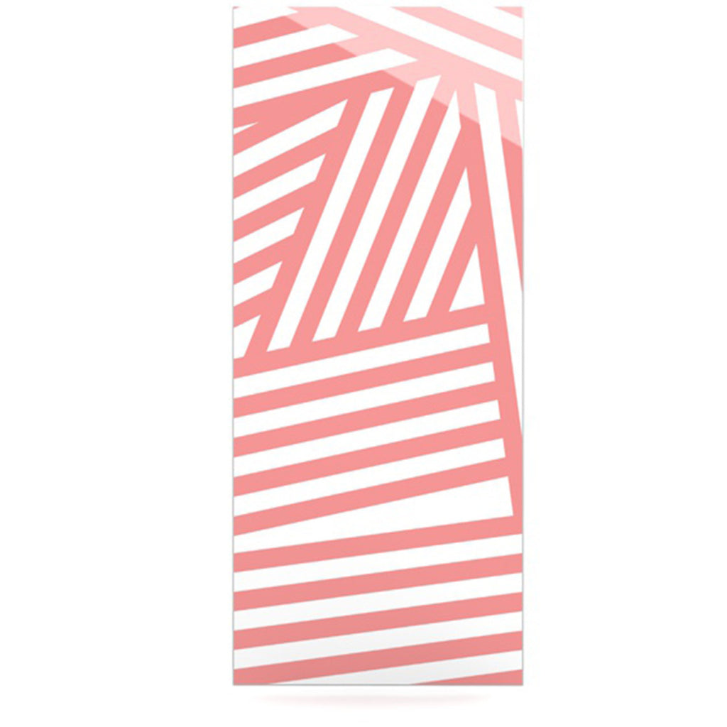 "Louise Machado ""Rose Stripes"" Pink White Luxe Rectangle Panel - KESS InHouse  - 1"