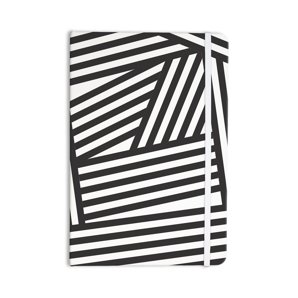 "Louise Machado ""Black Stripes"" Everything Notebook - KESS InHouse  - 1"