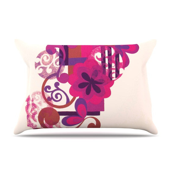 "Louise Machado ""Lilac"" Pillow Sham - KESS InHouse"