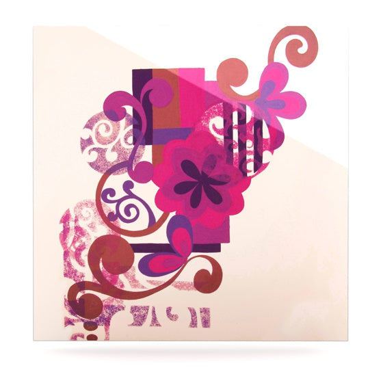 "Louise Machado ""Lilac"" Luxe Square Metal Art - KESS InHouse  - 1"