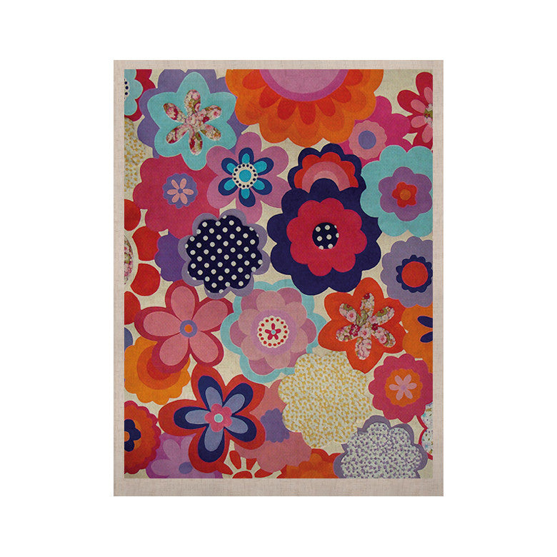 "Louise Machado ""Patchwork Flowers"" KESS Naturals Canvas (Frame not Included) - KESS InHouse  - 1"