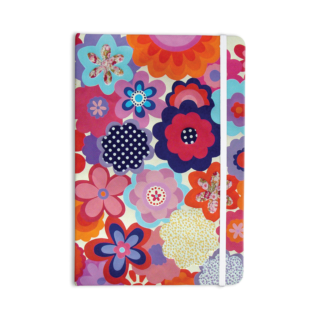 "Louise Machado ""Patchwork Flowers"" Everything Notebook - KESS InHouse  - 1"