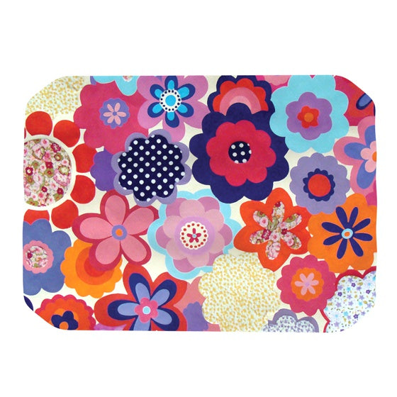 "Louise Machado ""Patchwork Flowers"" Place Mat - KESS InHouse"