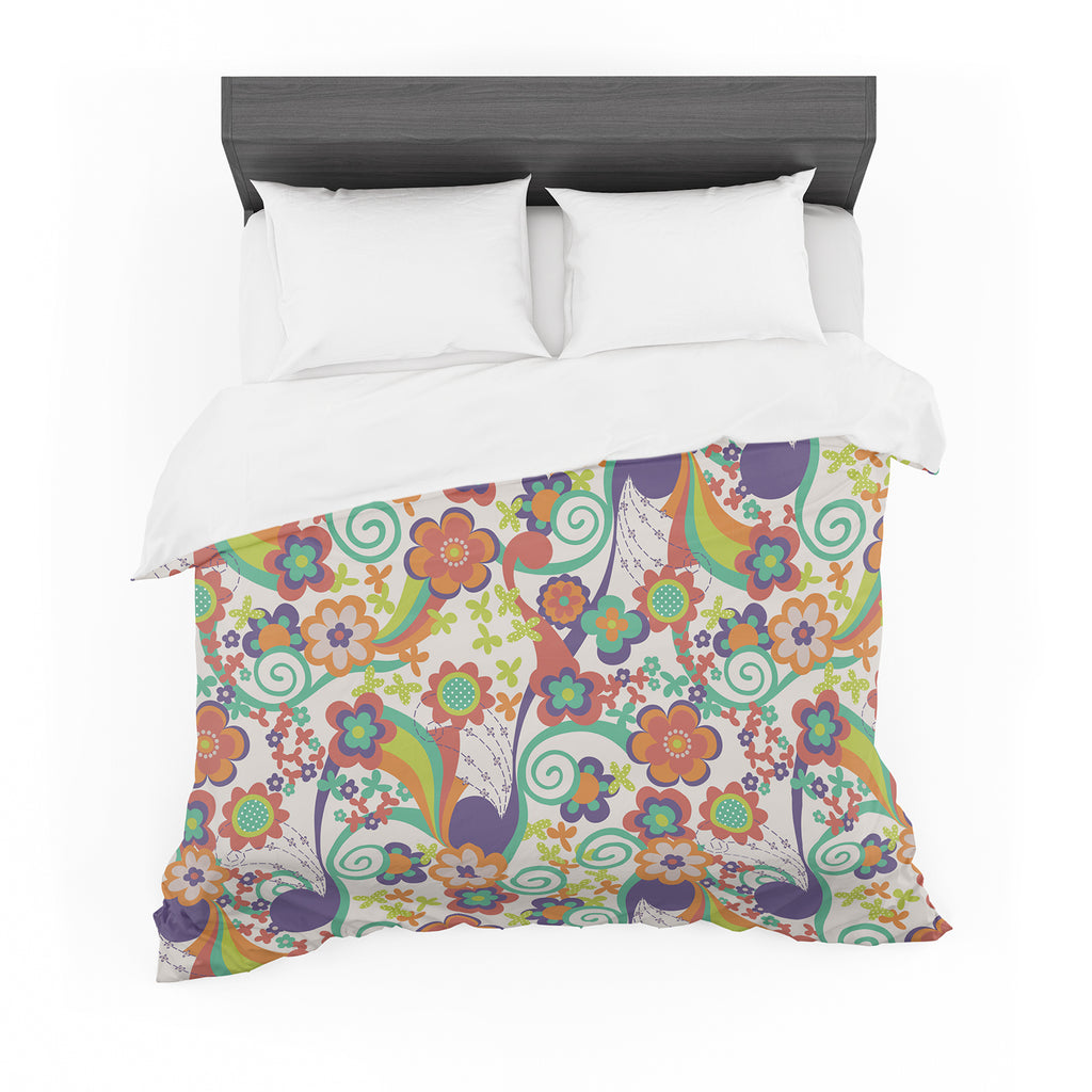 "Louise Machado ""Printemps"" Cotton Duvet"