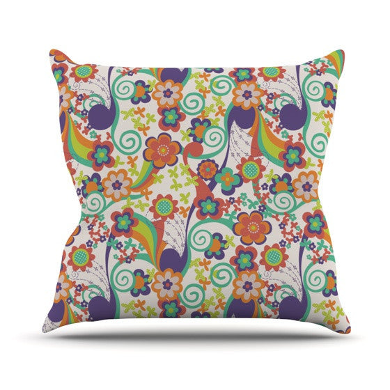 "Louise Machado ""Printemps"" Outdoor Throw Pillow - KESS InHouse  - 1"