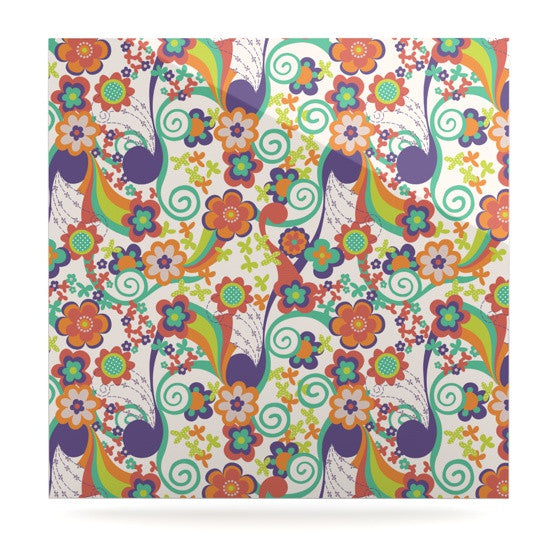 "Louise Machado ""Printemps"" Luxe Square Panel - KESS InHouse  - 1"