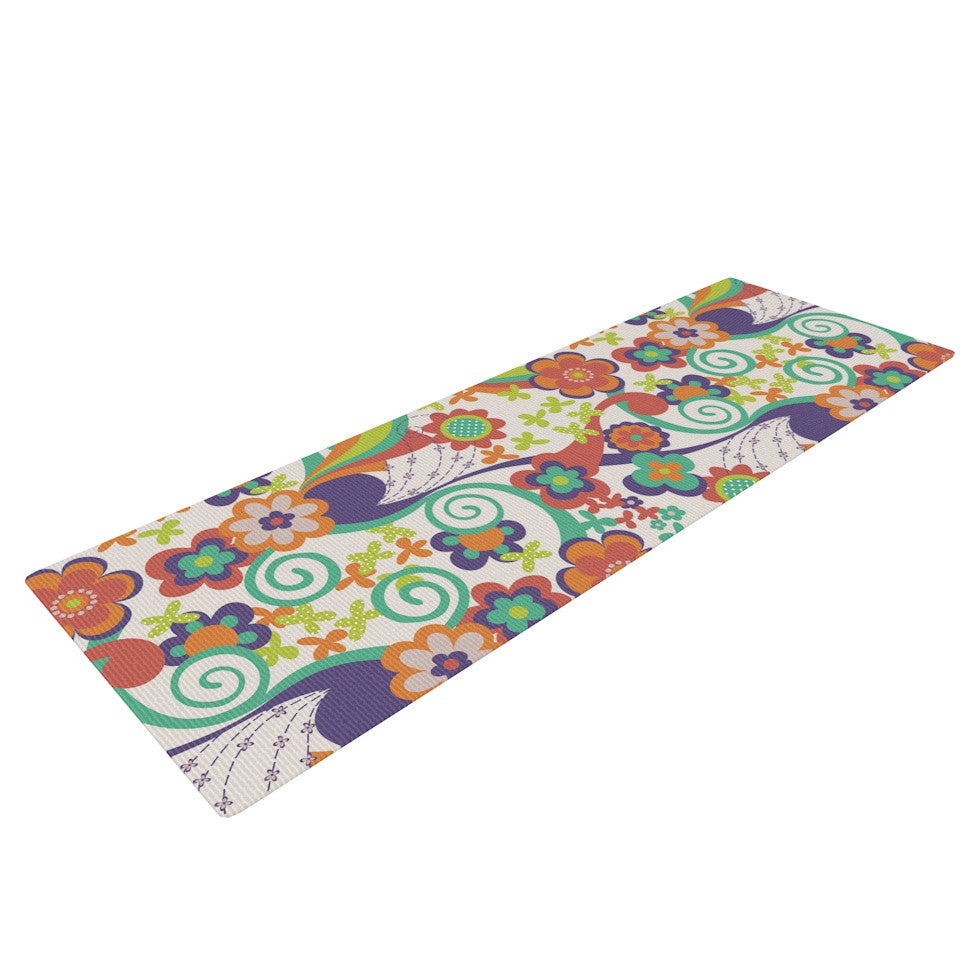 "Louise Machado ""Printemps"" Yoga Mat - KESS InHouse  - 1"