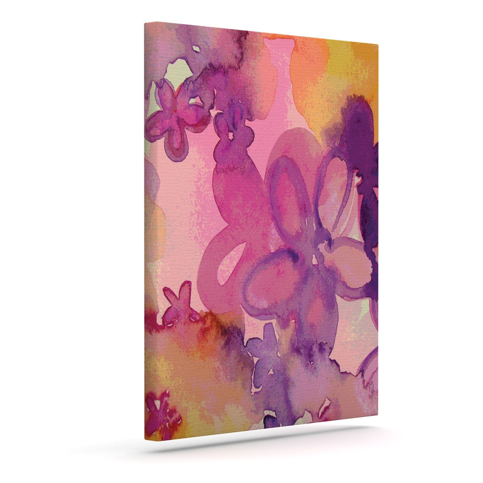 "Louise Machado ""Dissolved Flowers"" Outdoor Canvas Wall Art - KESS InHouse  - 1"