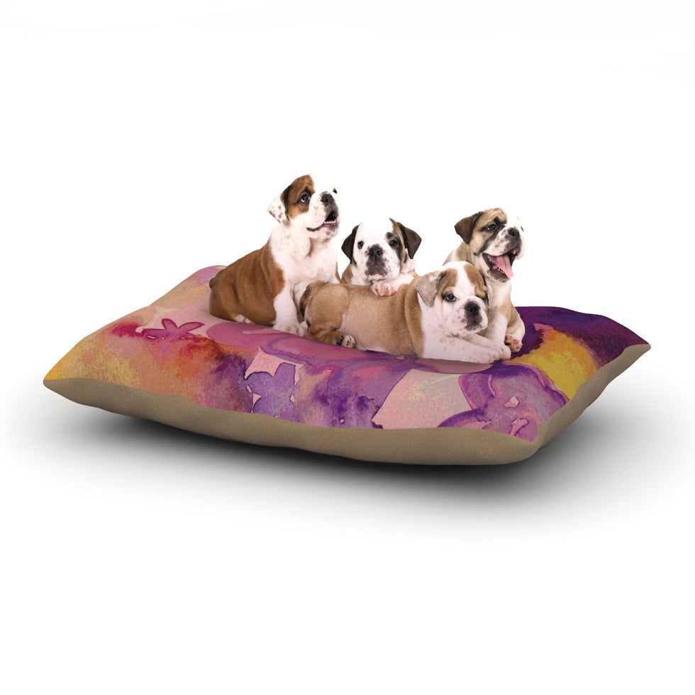 "Louise Machado ""Dissolved Flowers"" Dog Bed - KESS InHouse  - 1"