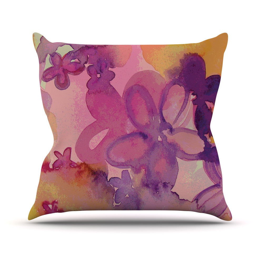 "Louise Machado ""Dissolved Flowers"" Outdoor Throw Pillow - KESS InHouse  - 1"