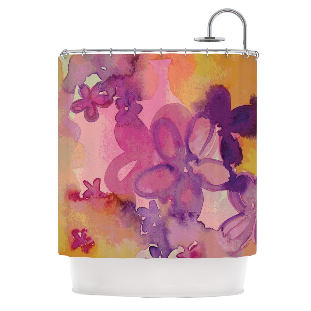 "Louise Machado ""Dissolved Flowers"" Shower Curtain - KESS InHouse"