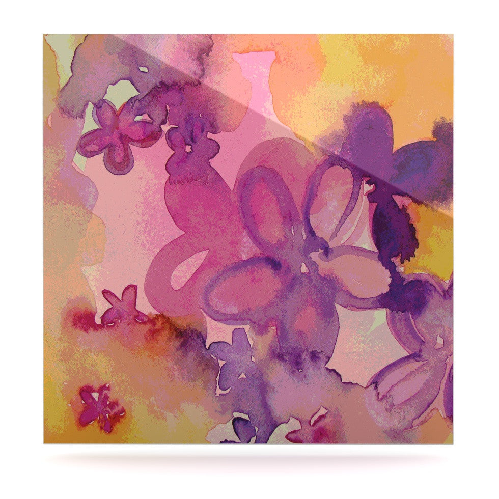 "Louise Machado ""Dissolved Flowers"" Luxe Square Panel - KESS InHouse  - 1"