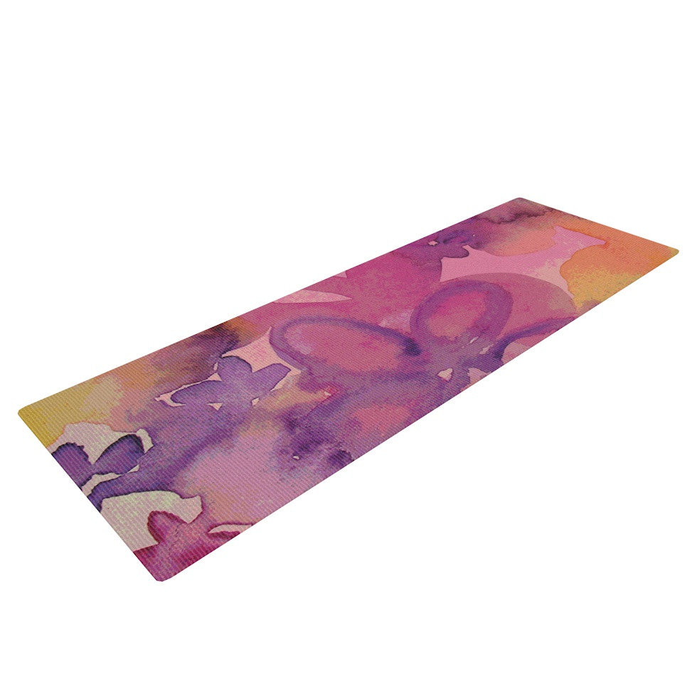"Louise Machado ""Dissolved Flowers"" Yoga Mat - KESS InHouse  - 1"