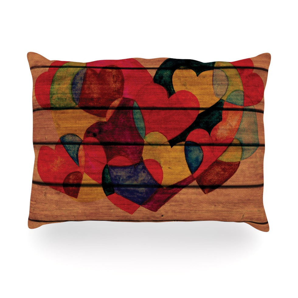 "Louise Machado ""Wooden Heart"" Oblong Pillow - KESS InHouse"
