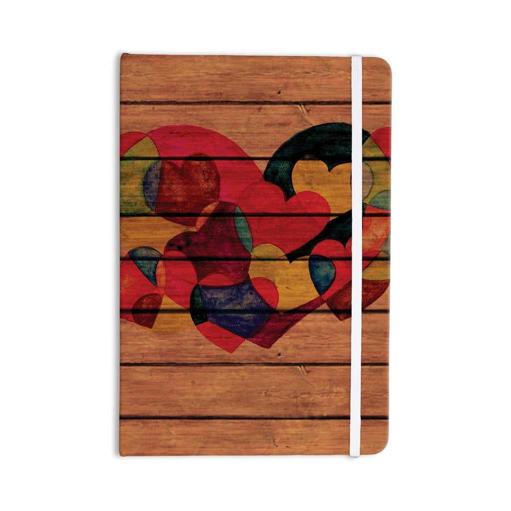 "Louise Machado ""Wooden Heart"" Everything Notebook - KESS InHouse  - 1"