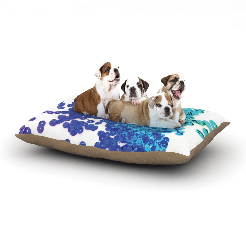"Louise Machado ""Balance Blue"" Dog Bed - KESS InHouse  - 1"