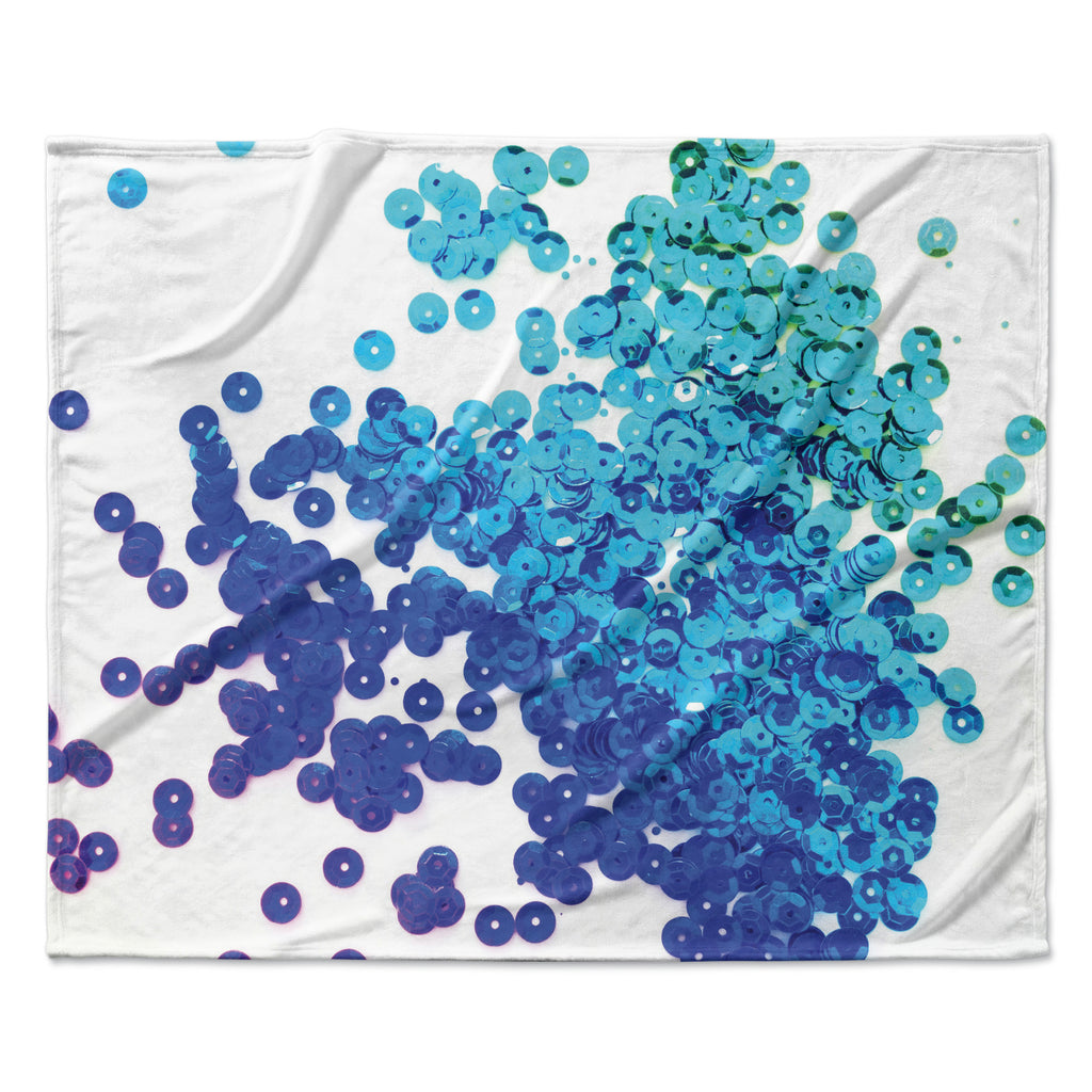 "Louise Machado ""Balance Blue"" Fleece Throw Blanket"