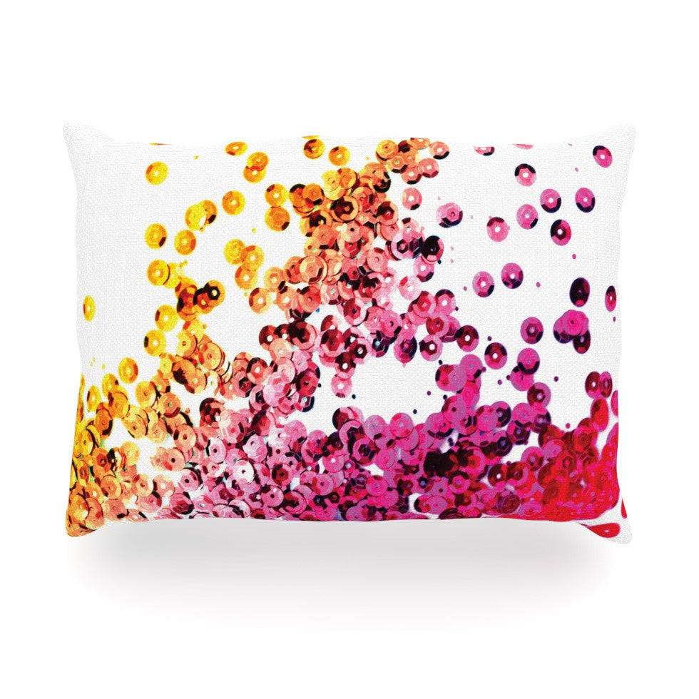 "Louise Machado ""Balance Purple"" Oblong Pillow - KESS InHouse"