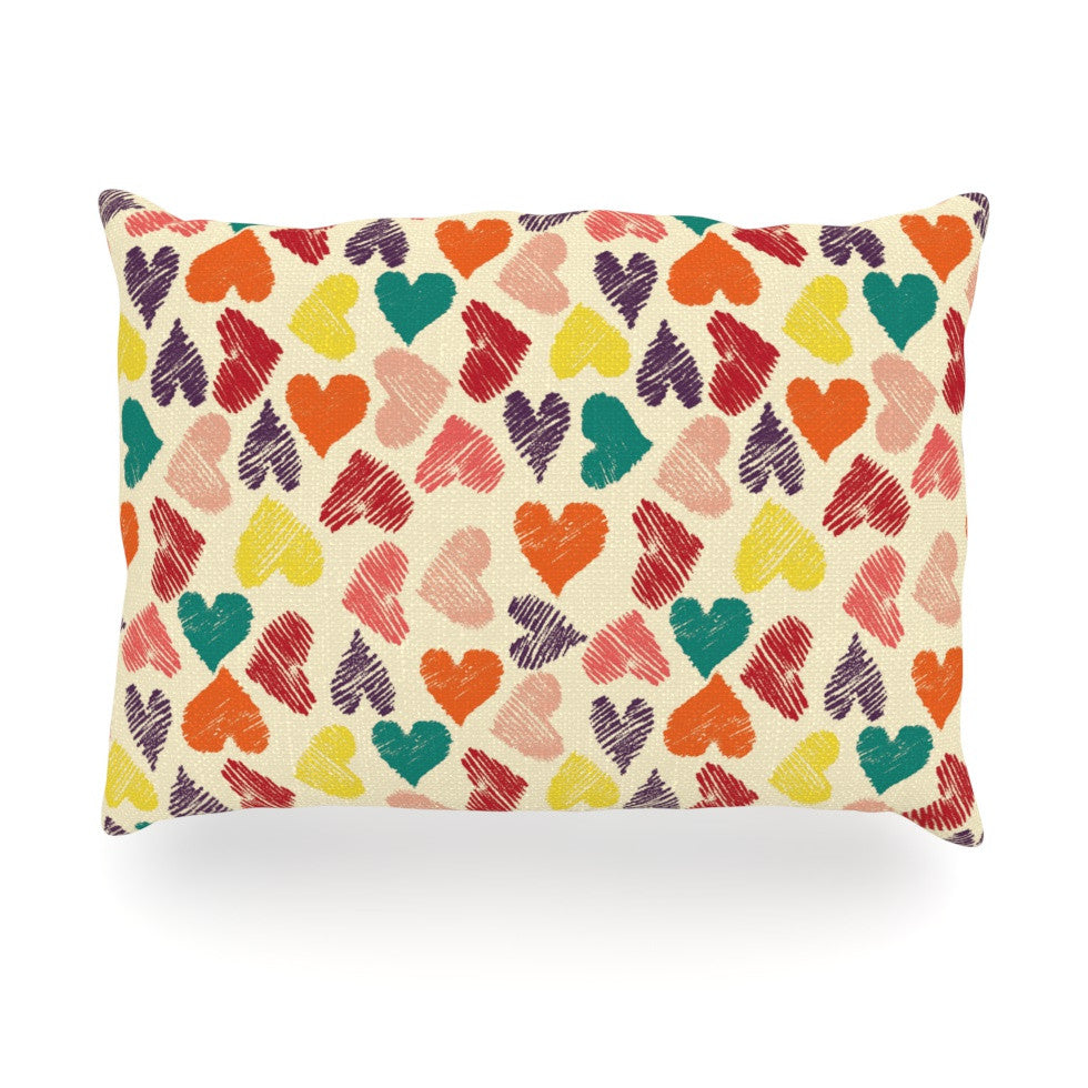 "Louise Machado ""Little Hearts"" Oblong Pillow - KESS InHouse"