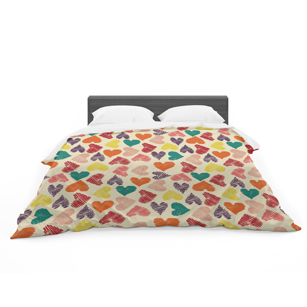 "Louise Machado ""Little Hearts"" Cotton Duvet"