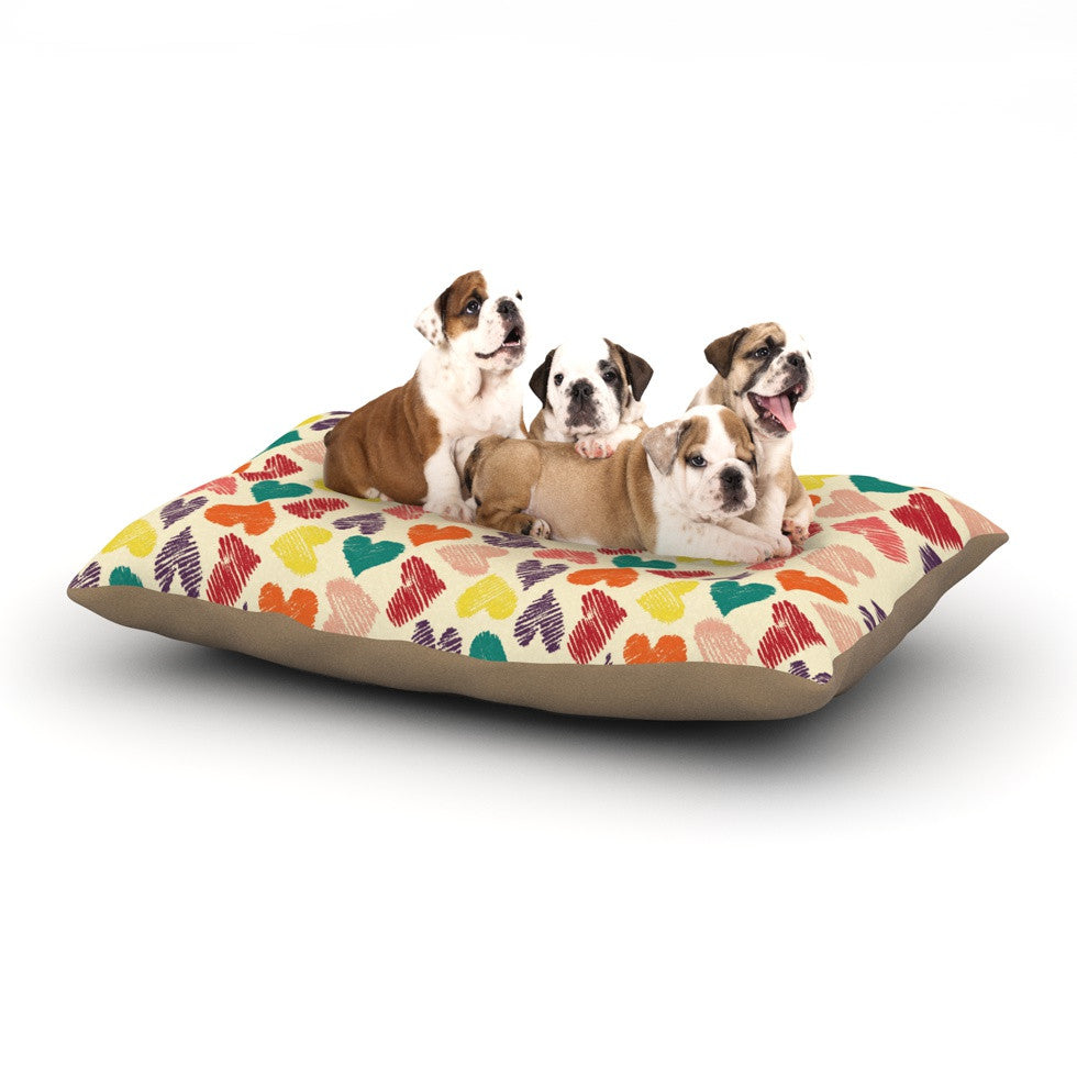 "Louise Machado ""Little Hearts"" Dog Bed - KESS InHouse  - 1"