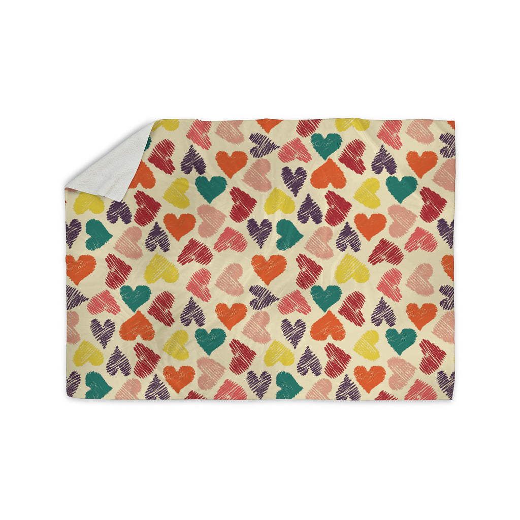 "Louise Machado ""Little Hearts"" Sherpa Blanket - KESS InHouse  - 1"