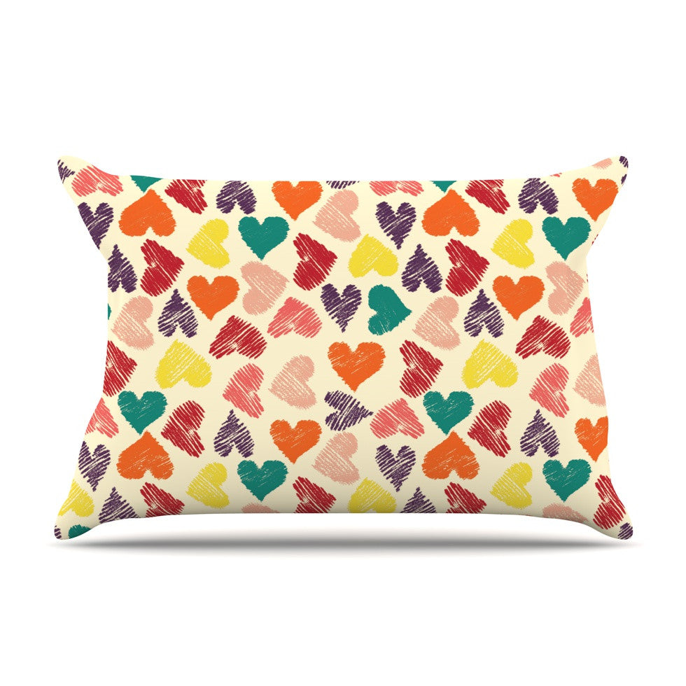 "Louise Machado ""Little Hearts"" Pillow Sham - KESS InHouse"