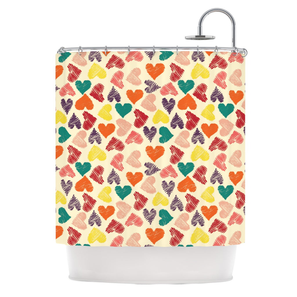 "Louise Machado ""Little Hearts"" Shower Curtain - KESS InHouse"