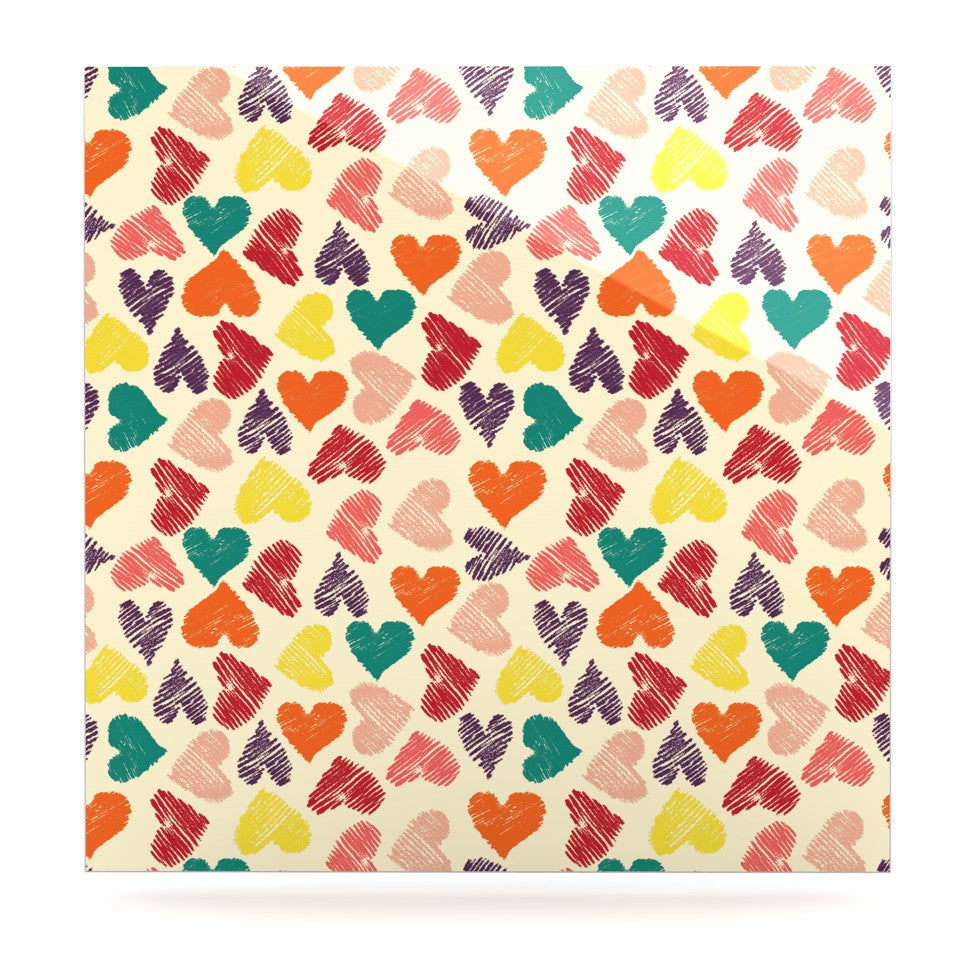 "Louise Machado ""Little Hearts"" Luxe Square Panel - KESS InHouse  - 1"