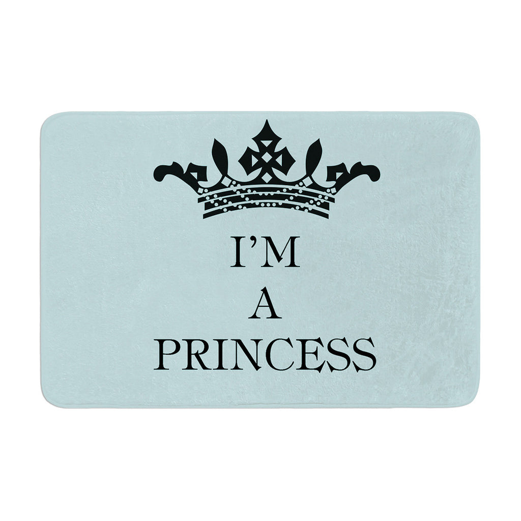 "Louise Machado ""Im a Princess"" Memory Foam Bath Mat - KESS InHouse"