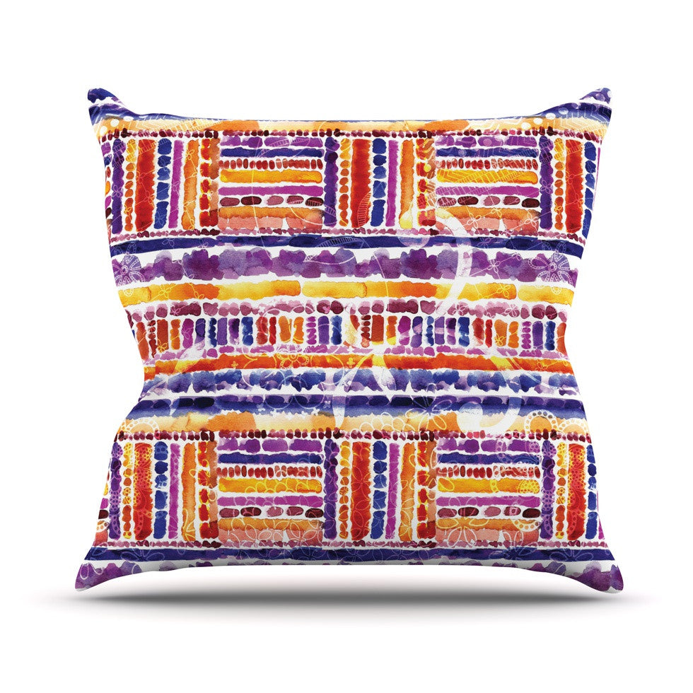 "Louise Machado ""Tribal"" Throw Pillow - KESS InHouse  - 1"